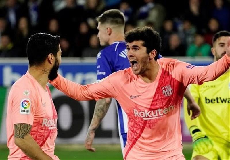 بارسلونا با پیروزی خارج از خانه در فاصله 3 امتیازی تا فتح لالیگا نهاده شد