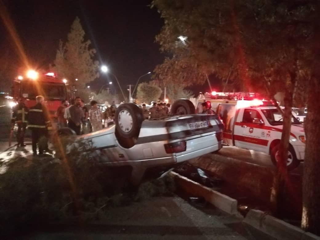 چهار کشته و مصدوم در اثر واژگونی خودرو